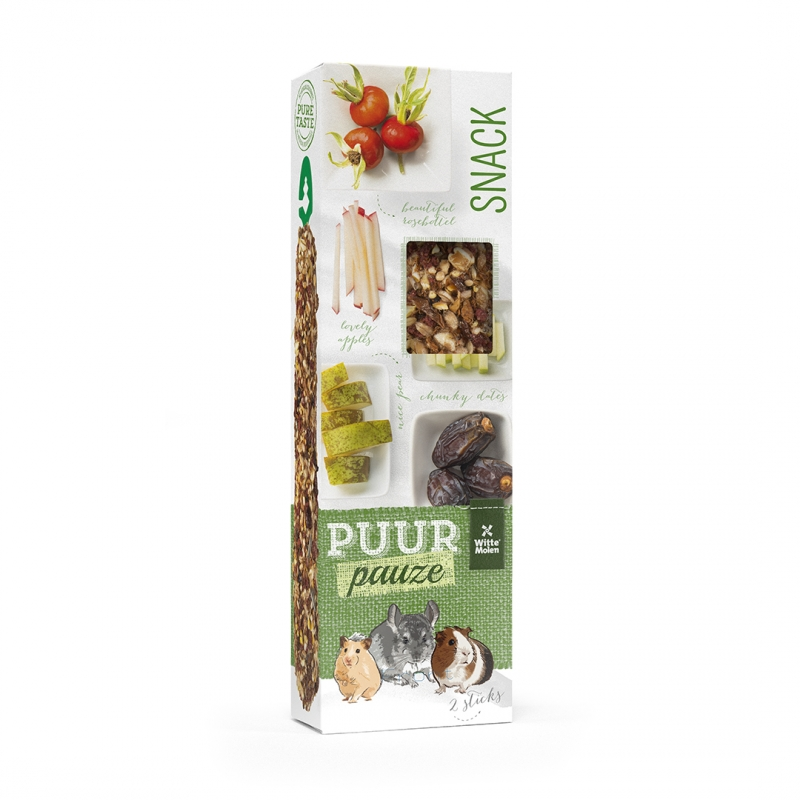 PUUR Pauze sticks Peer & Dadel 180 gr