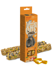 Little One knabbelsticks met fruit en noten 2x60 g
