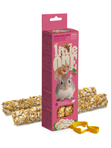Little One Knabbelsticks met gepofte rijst en noten, 2x55 g