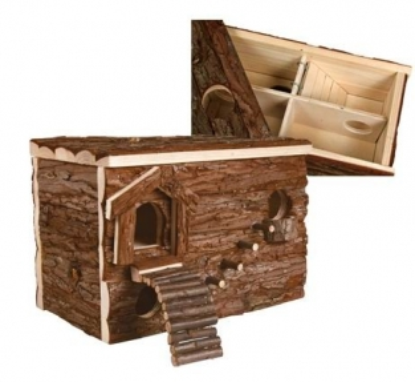 Gerbil vila van trixie met maar liefst 8 kamers mag je dit een ware vila noemen het dak is - Afneembaar huis ...